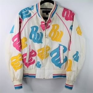 Rocawear Spell Out Logo Bomber Jacket Colorful